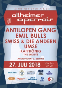 Flyer - 24. Altheimer Open-Air 2018