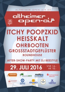 Flyer - 22. Altheimer Open-Air 2016